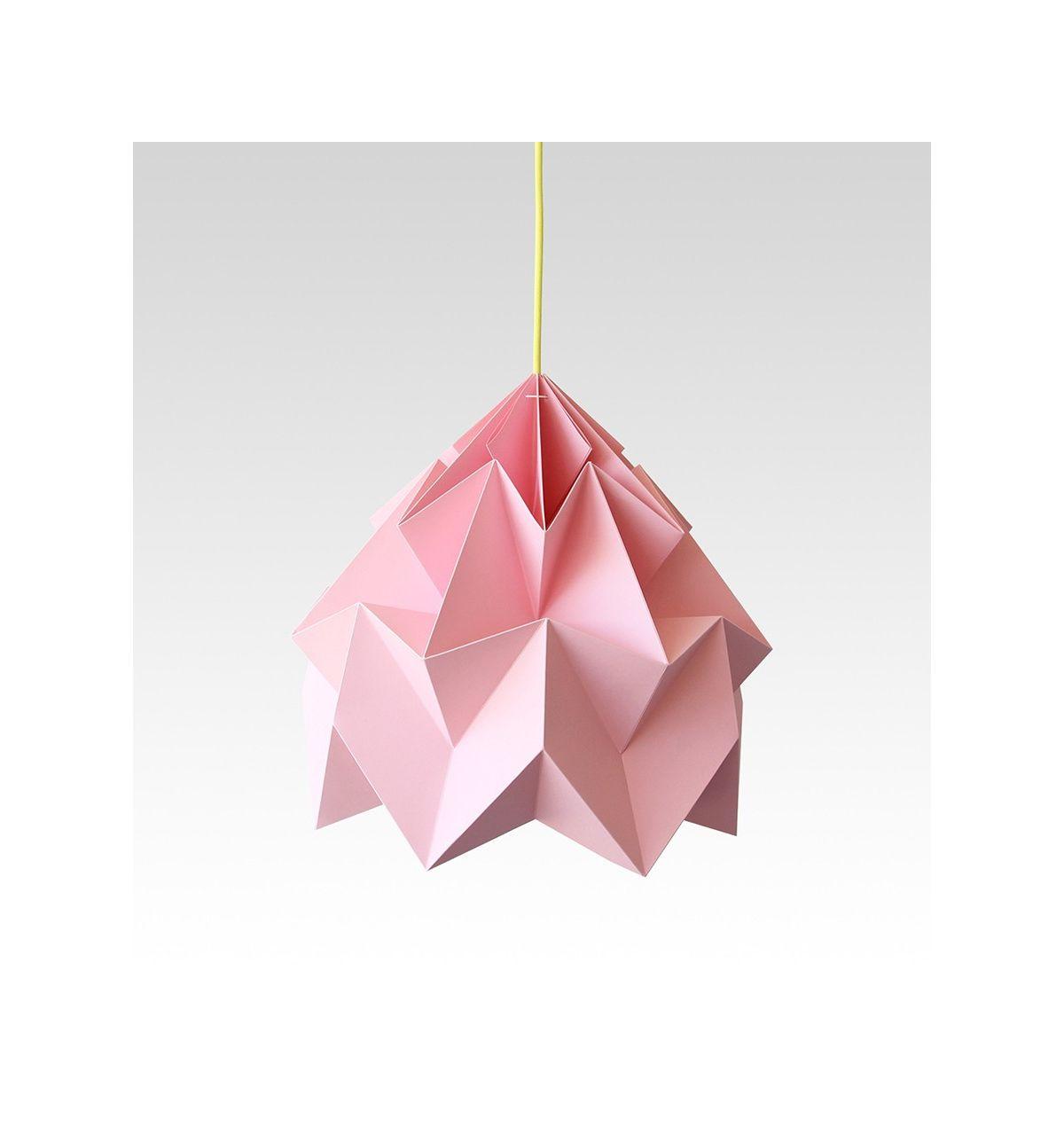 lampadario origami : Studio Snowpuppe lampadario origami Moth XL rosa