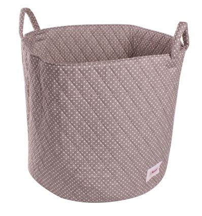 minene - large storage basket dotty (grey/white)