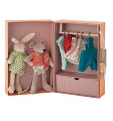 moulin roty - the little wardrobe suitcase le petit armoire