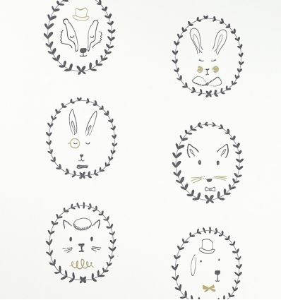 "hibou home - wallpaper ""portraits"""