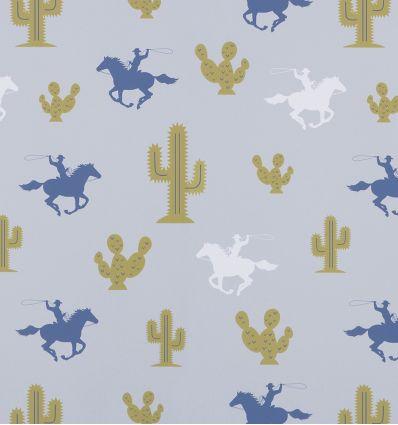 "hibou home - wallpaper ""cactus cowboy"""