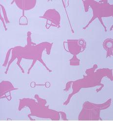hibou home - wallpaper gymkhana (lilac/fuchsia)