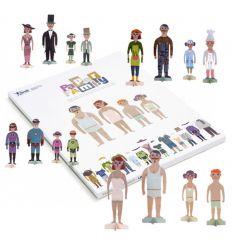 londji - bambole da vestire paper family