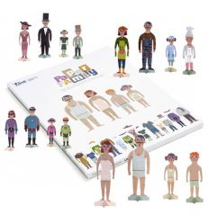 londji - dress up dolls paper family