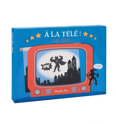 moulin roty - night-time shadows television box