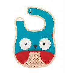 skip hop - tuck-away bib owl