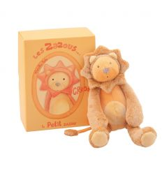 moulin roty - zazous grroou little lion soft toy