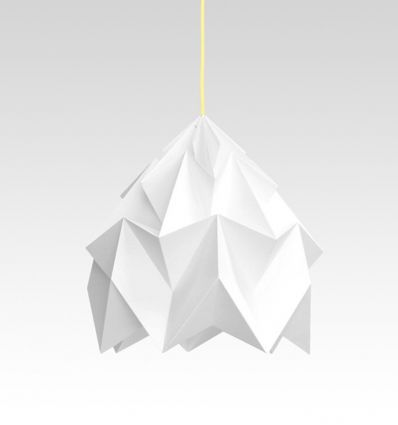 studio snowpuppe - paper origami lamp moth xl white