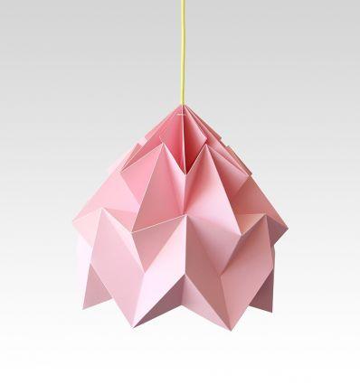 studio snowpuppe - lampada a sospensione origami moth xl rosa