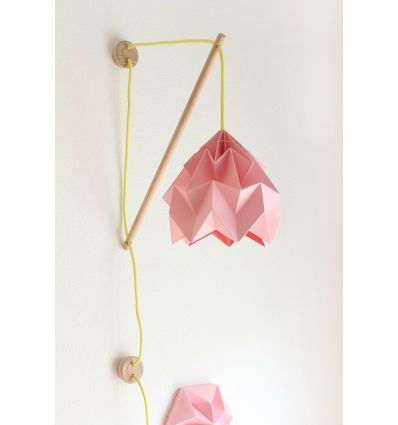 studio snowpuppe - paper origami lamp wall fixture klimoppe rose