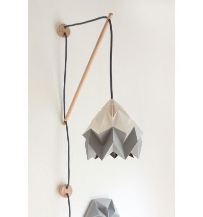 studio snowpuppe - lampada origami a parete klimoppe bicolore bianco/grigio
