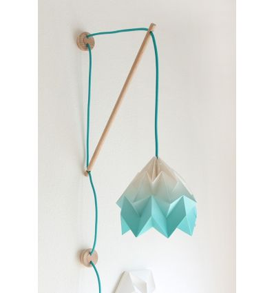 studio snowpuppe - paper origami lamp wall fixture klimoppe gradient turquoise