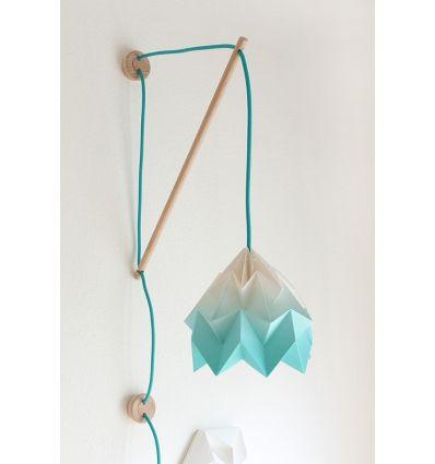 studio snowpuppe - lampada origami a parete klimoppe sfumata turchese
