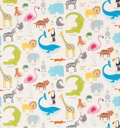 scion - tessuto d'arredo animal magic (multicolor/bianco)
