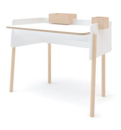 oeuf - brooklyn desk (white/birch)