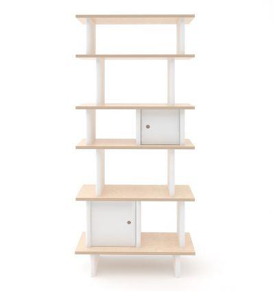 oeuf - mini library verticale (bianco/betulla)