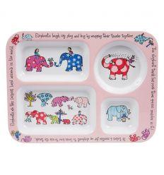 tyrrell katz - piatto con scomparti elefanti