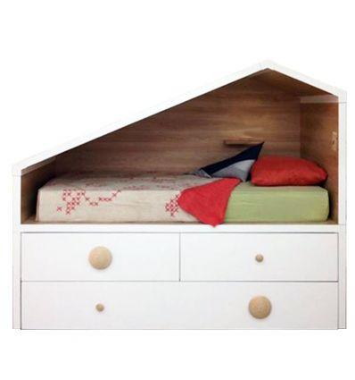 lagrama - letto casetta cottage compact (bianco)
