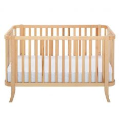 "hugs factory - convertible crib 2 in 1 ""manhattan"" (natural)"