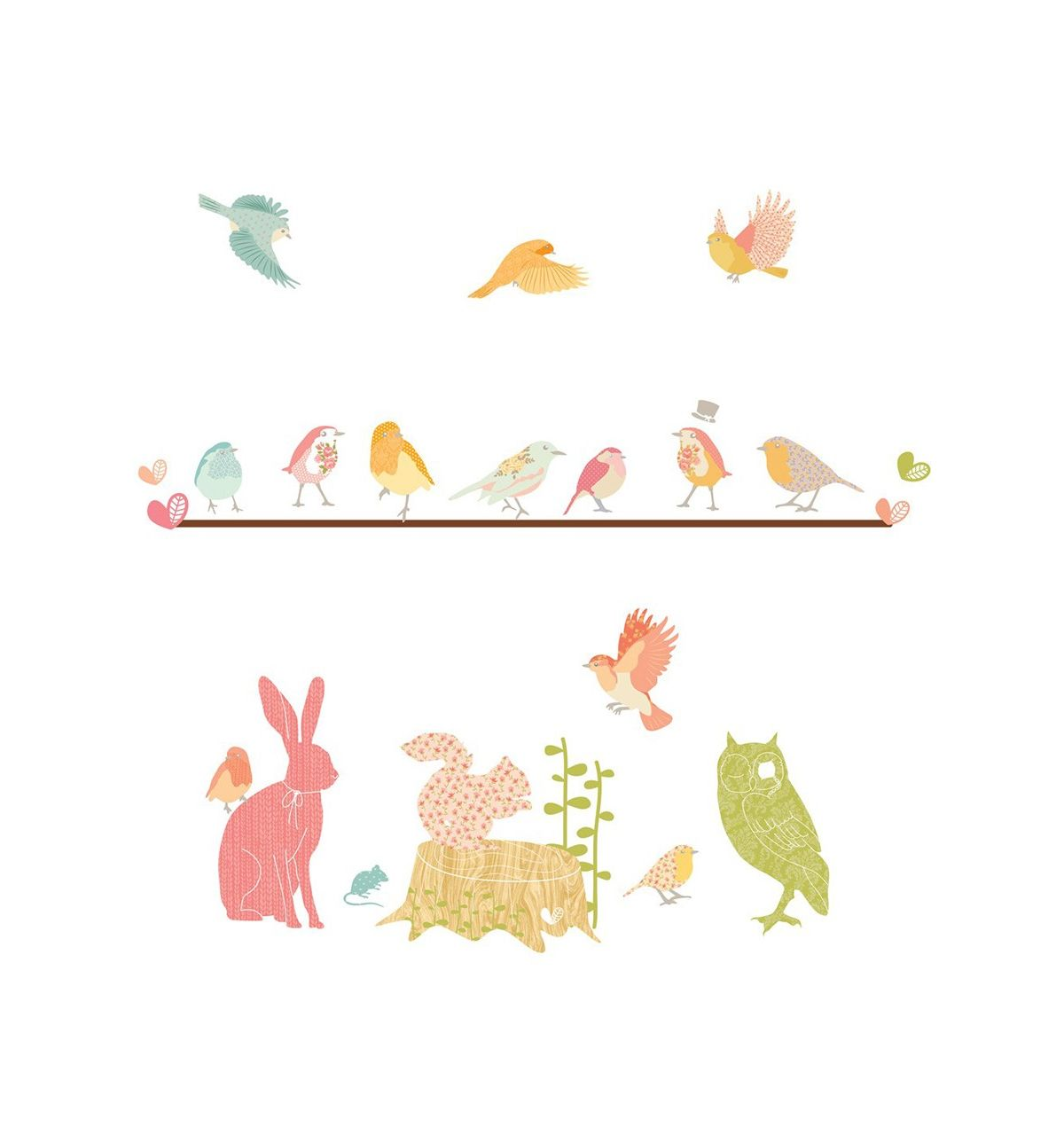 love mae fabric wall stickers forest critters fabulous new range of wall decals from love mae