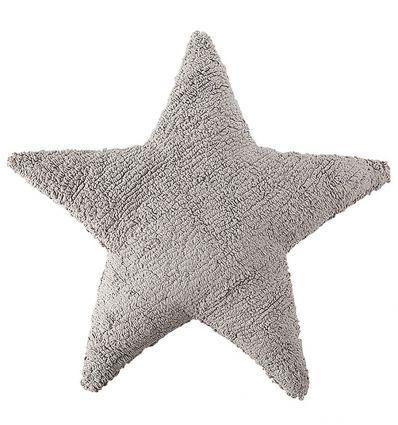 lorena canals - cuscino stella (grigio chiaro)