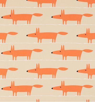 scion - tessuto d'arredo mr fox applique (ginger)