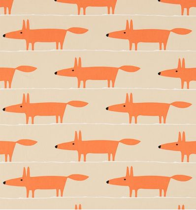 scion - tessuto d'arredo mr fox applique (ginger)