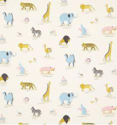 sanderson - tessuto d'arredo animali dell'arca two by two (neapolitan)