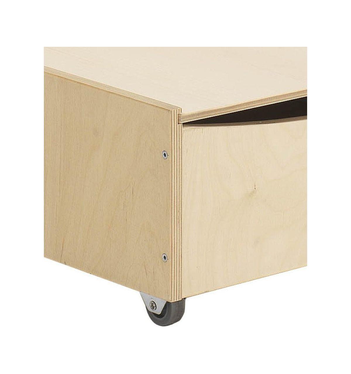 Hugs factory cassettone scatola sottoletto in legno - Contenitori sottoletto con ruote ...