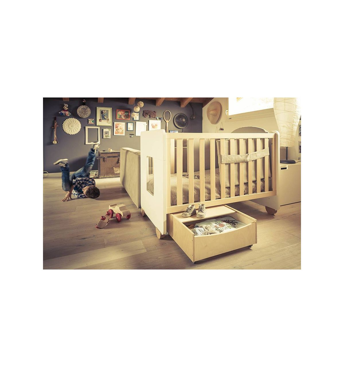 Hugs factory cassettone scatola sottoletto in legno - Contenitore sottoletto ...