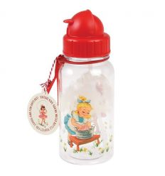 water bottle vintage girl