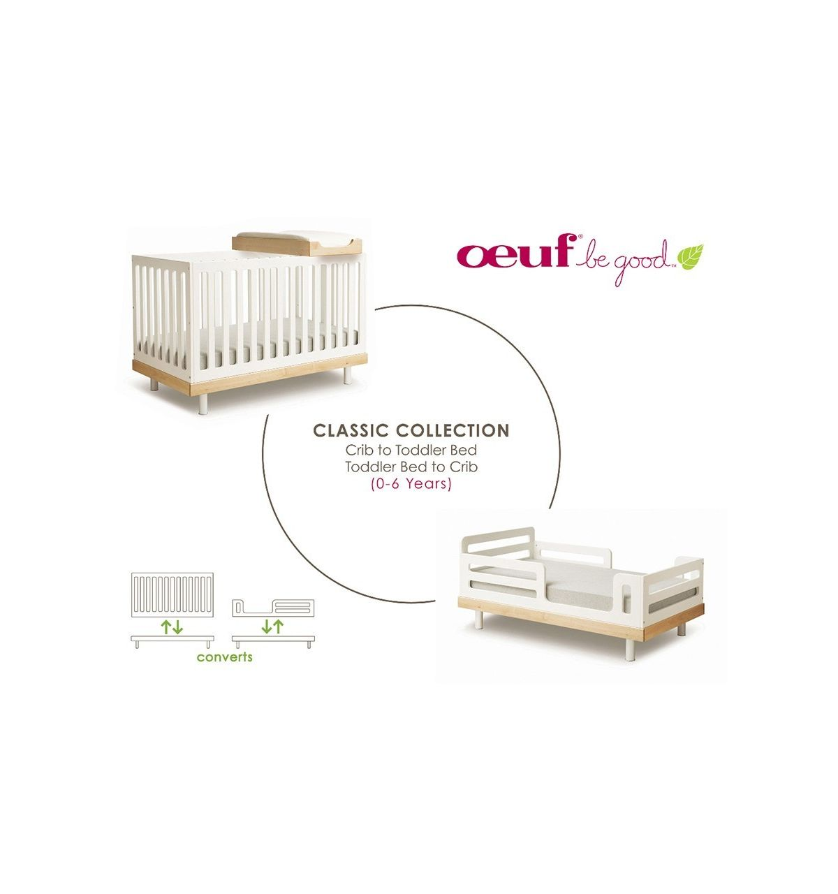 100 oeuf classic toddler bed conversion kit easy diy toddle