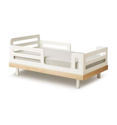 oeuf - letto junior classic (bianco/betulla)