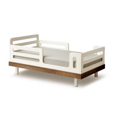 oeuf - letto junior classic (bianco/noce)