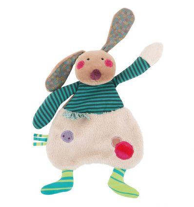 moulin roty - rabbit baby comforter les jolis pas beaux