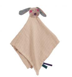 moulin roty - snuggly comforter rabbit - les Jolis pas beaux