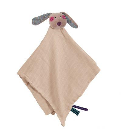 moulin roty - rabbit snuggly comforter les Jolis pas beaux