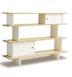 oeuf - mini library (white/birch)