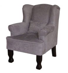 armchair for kids (grey velvet)