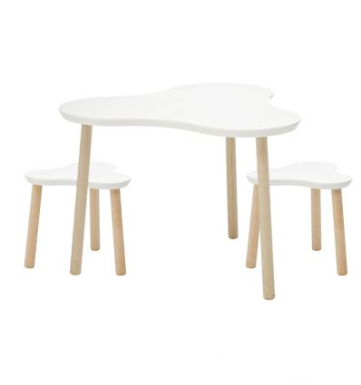 lifetime - wooden table with stools clover