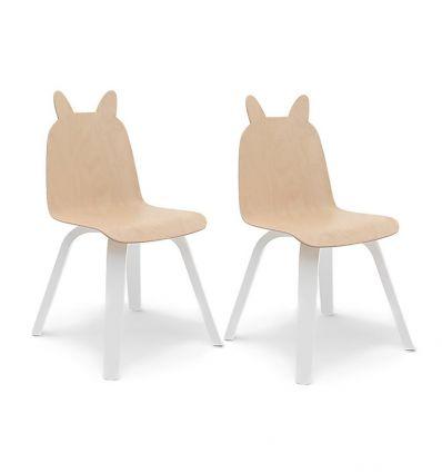 oeuf - sedie coniglio play chairs (bianco/betulla)