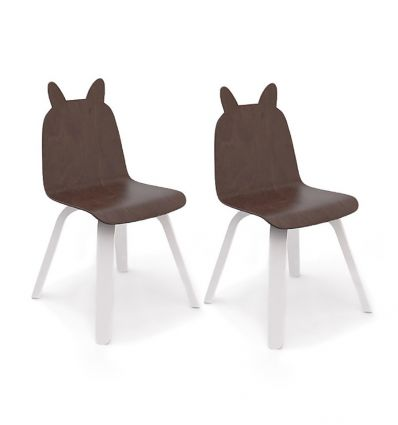 oeuf - sedie coniglio play chairs (bianco/noce)