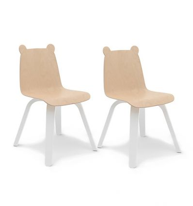 oeuf - sedie orso play chairs (bianco/betulla)