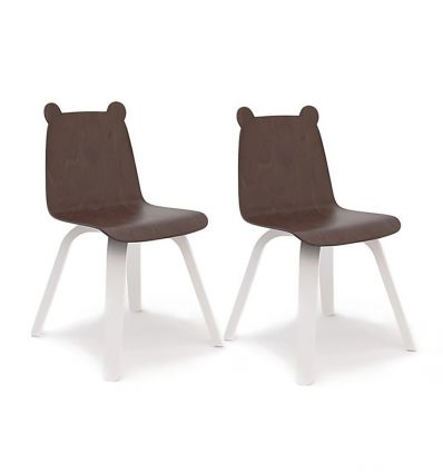 oeuf - sedie orso play chairs (bianco/noce)
