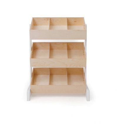 oeuf - portagiochi toy store (bianco/betulla)