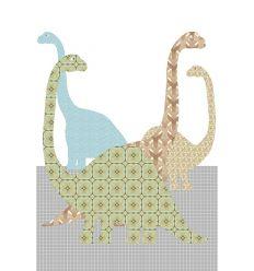 inke - carta da parati pannello dinosauri (dino80)