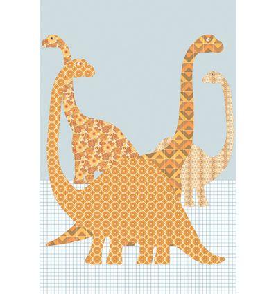 inke - carta da parati pannello dinosauri (dino87)