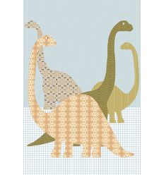 inke - carta da parati pannello dinosauri (dino153)