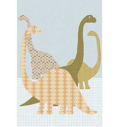 inke - pannello carta da parati dinosauri dino153