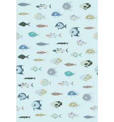 inke - murale in carta da parati pesci vissen blauw